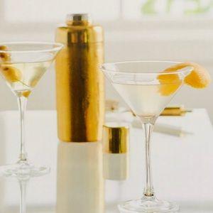 THRESHOLD Set of 4 Martini Glasses
